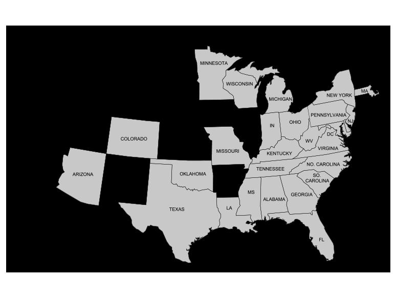 50 States Map FEG